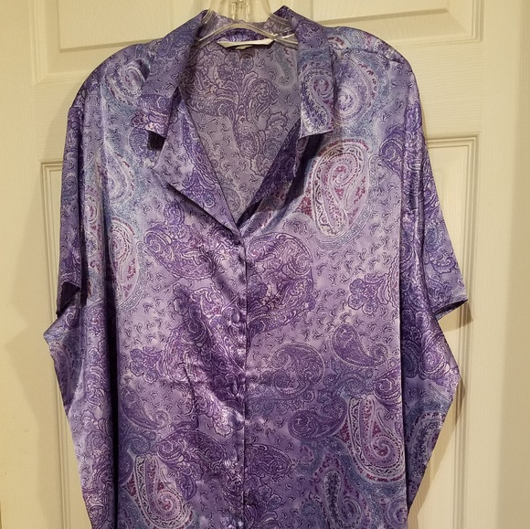 cea179b562dff Cacique Other - Cacique Like New Silky Plus Size PJ Long Top